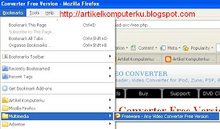Uji Bookmark Firefox