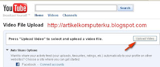 panduan upload video youtube