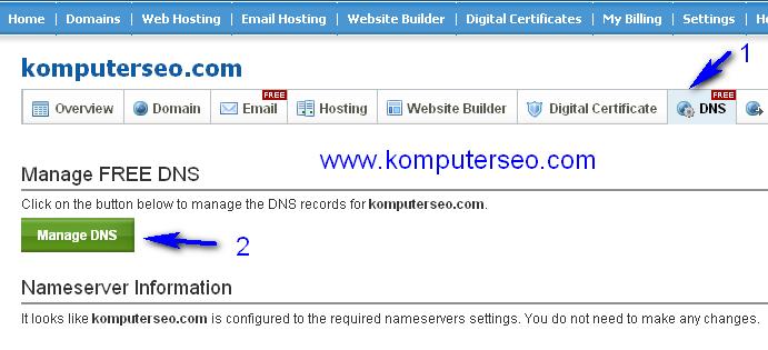 menggunakan domain berbayar di blogspot