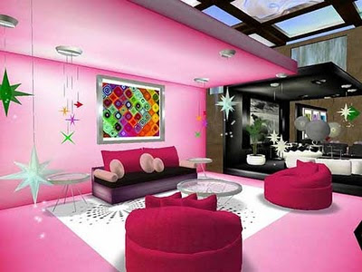 Romatic Living Room Interior Decoration for Valentine