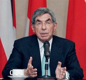 Costa Rican President Oscar Arias (AP Photo/Kent Gilbert)