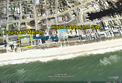 Carolina Beach Marriott and Hilton Garden Inn