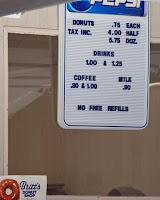 Britts Donuts menu