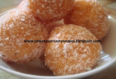 Priya's Versatile Recipes: Coconut Laddu