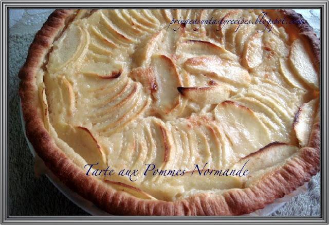 priya 39 s versatile recipes tarte aux pommes normande. Black Bedroom Furniture Sets. Home Design Ideas