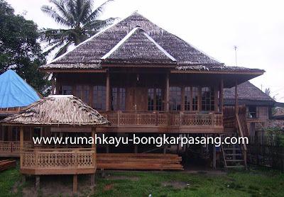 rumah panggung knock down palembang