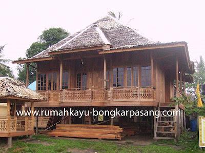 contoh gambar rumah kayu keren mungil
