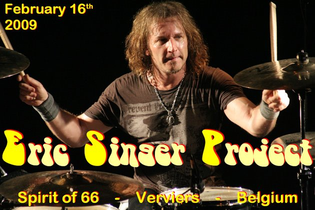 """Eric Singer Project (16/02/09) at the """"Spirit of 66"""" in Verviers, Belgium."""