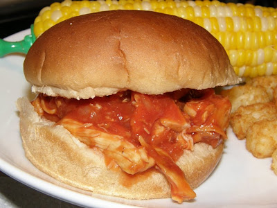 The Cookbook Junkie: Easy--Shredded Barbecue Chicken Sandwiches