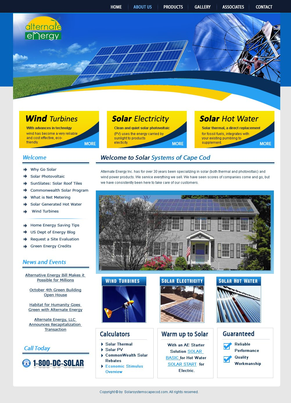 Solar Systems Email Newsletter Design Landing Page
