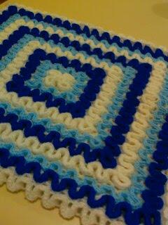 alfombra crochet azul 3