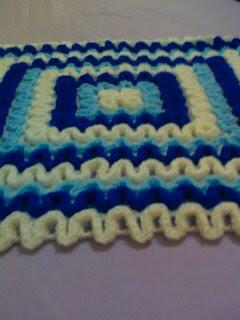 alfombra crochet azul 2