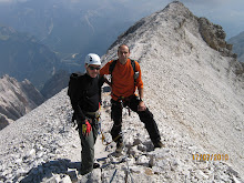 Renzo e Luigi sul Sentiero Dibona