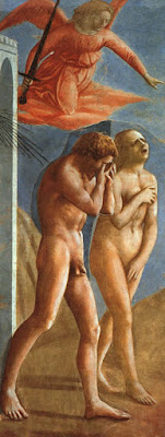 The Expulsion from the Garden of Eden, Masaccio, Brancacci Chapel, 1426