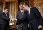 Mark Carney, Governor of the Bank of Canada, Stephen Harper, Jim Flaherty