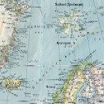 Spitsbergen, Svalbard, Map, Detail
