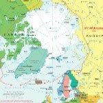 Spitsbergen, Svalbard, Map, Arctic Overview, 1:39,000,000