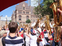 Canada Day Shuffle Demons Guinness Record for Saxophone Band