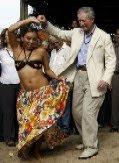 Prince Charles dancing in Pará
