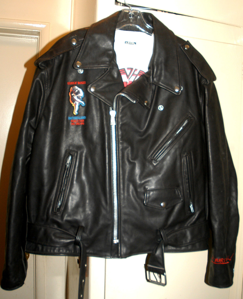 Leather jacket with roses - Guns N Roses Use Your Illusion World Tour Jacket
