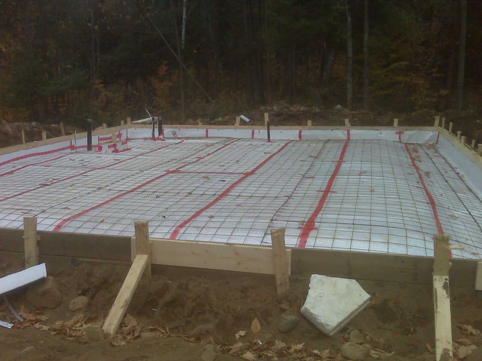 Monolithic pour foundation home design Foundation pouring