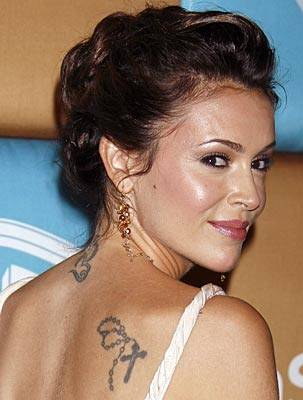 tattoo alyssa milano