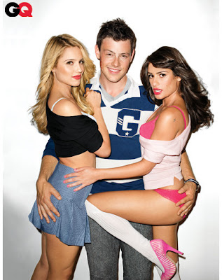GLEE GQ PHOTOS: Lea Michele, Dianna Agron on GQ Anger Parents