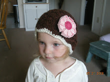 FreshCut Flower on Knit Hat