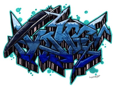 3d Graffiti Letters Sketch in this posting is 3d graffiti with created ...