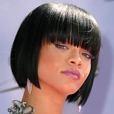 Rihannas Sexy Bob Hairstyle