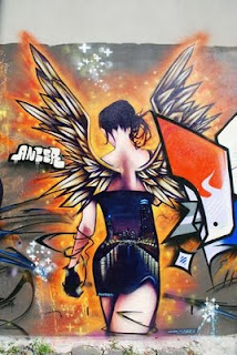 Angel Graffiti Art