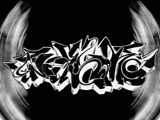 Graffiti Art Black and White Design