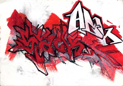 Street Graffiti Red Graffiti Sketches
