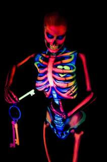 Glow in the Dark Body Painting