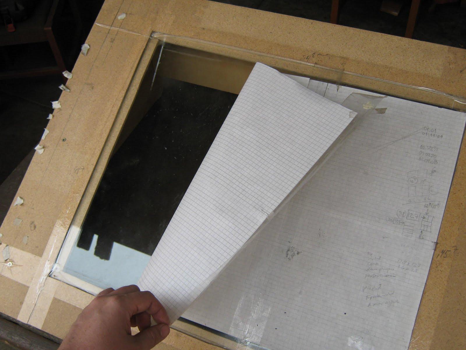 El taller de boshek como hacer tu mesa de calcar 1 - Mesa de dibujo portatil ...
