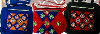 Applique hand bags