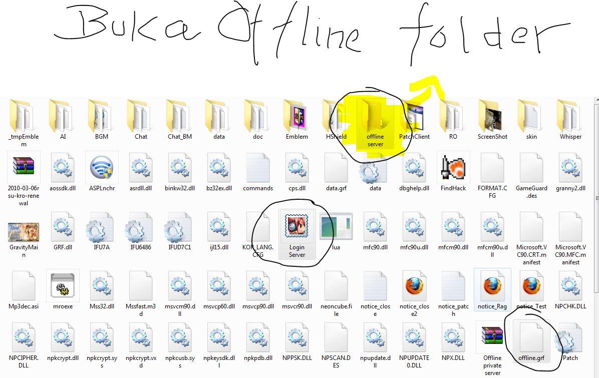 """Akan Muncul Seperti ini. Lalu Buka Folder yang Bernama """" RO OFFLINE """"."""