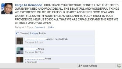 Cerge Remonde facebook