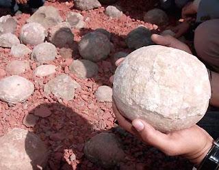 Huevos de dinosaurio en la India