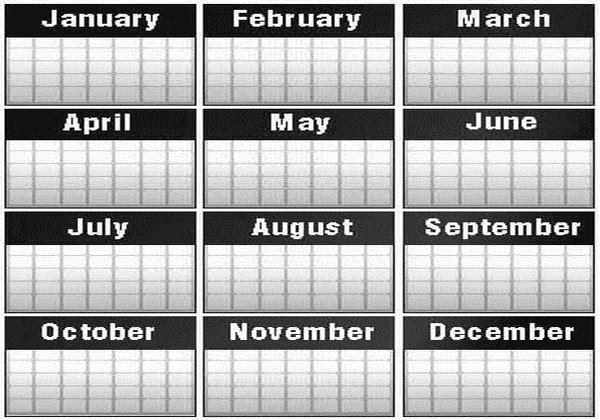 Calendar April To September : Days have september april june and november