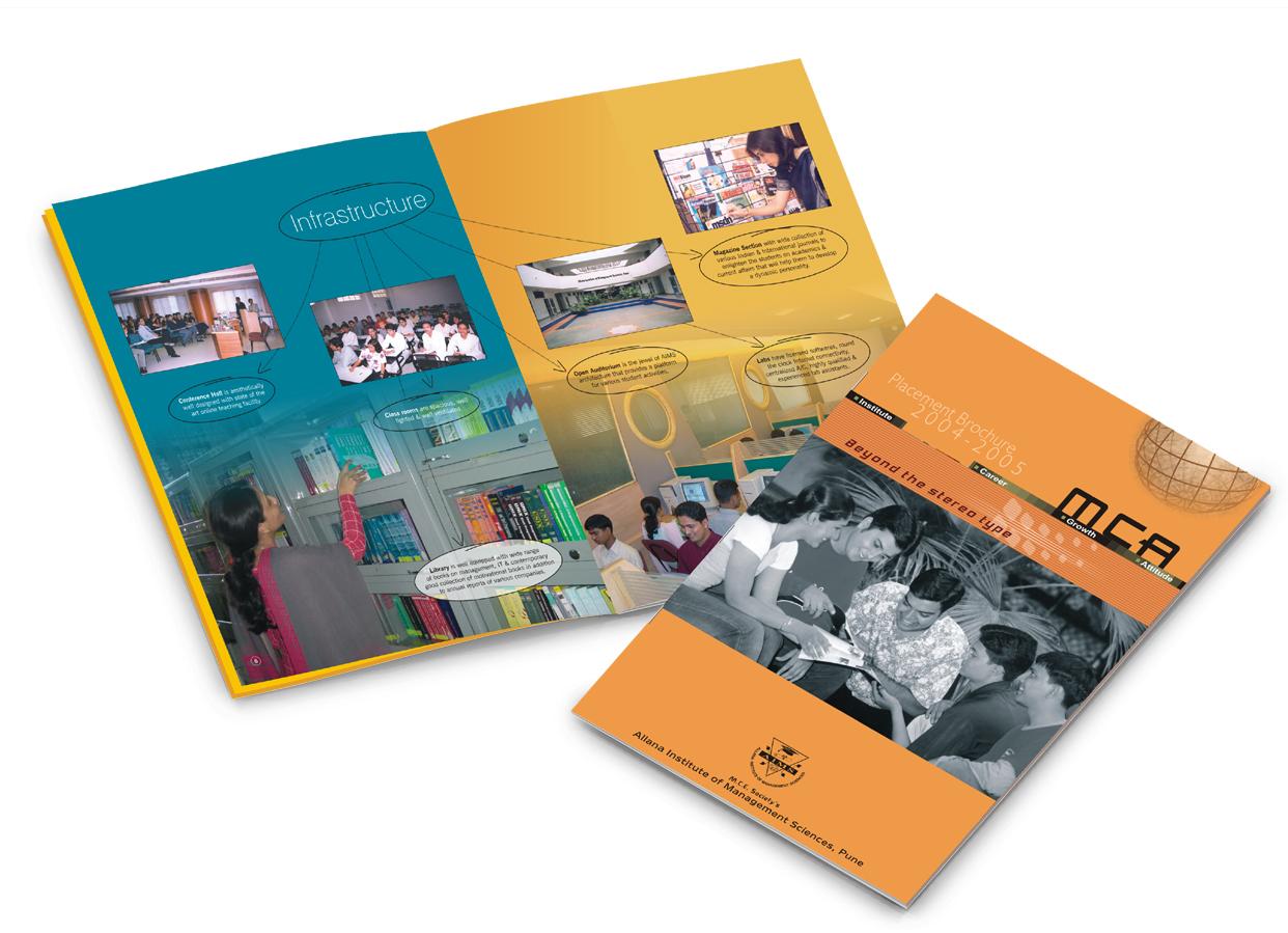 Designs blossoms portfolio for Placement brochure design