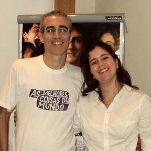 Luiz Bolognesi e Amanda Aouad