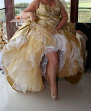 Gold and Ivory custom petticoat