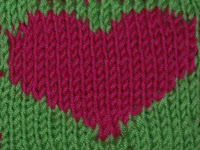 heart Heart Coaster {free knitting pattern}