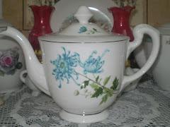 My Blue Dahlia Teapot