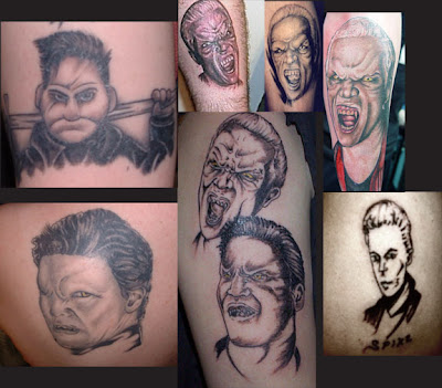 Tatouages des fans en rapport avec la série Spike+angel+vamps