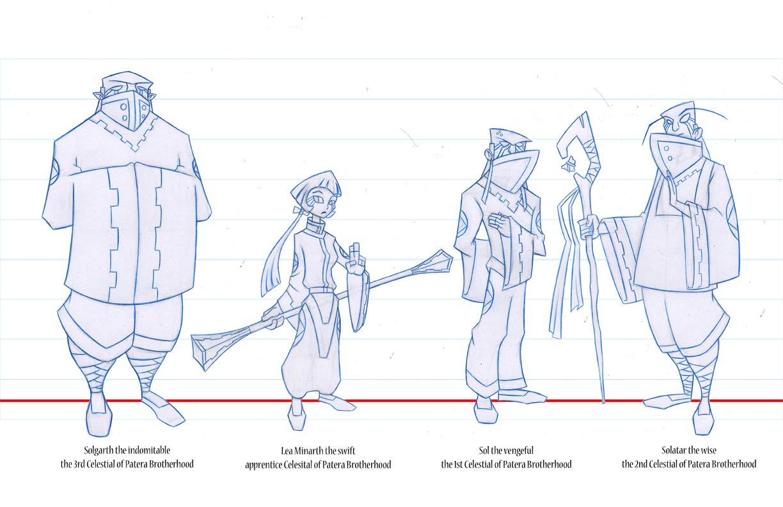 Stephen Silver Character Design App : Character design art test for life