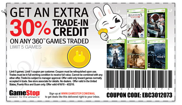 Gamestop coupons for xbox 360 printable