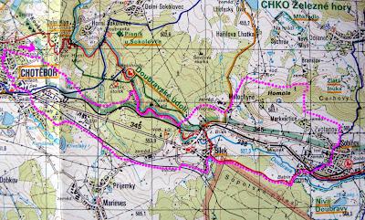 Trasa na turistické mapě