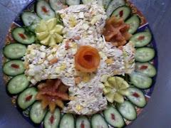 salade de volaille que j'ai preparé pour un buffet